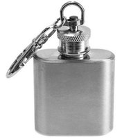 alcohol bottles - 1oz Russian Stainless Steel Hip Flask Portable Mini Alcohol Whiskey Wine Bottle Pocket Liquor Flagon Flasks key chain keychain Oz Ounces