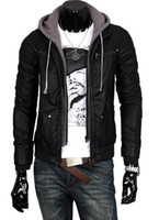 Wholesale 2014 fall autumn New men jacket casual cardigan hooded leather jackets outwear long sleeve coat men s clothing for winter XN154