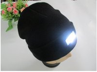 active hunting - Hot led knitted beanie hat for men colors womens winter warm lights LED glowing knitting caps Angling Hunting Camping Running glow hat