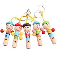Wholesale Baby Kids Wooden Colorful Mini Whistle Pirates Toy Musical Toys Education Gift