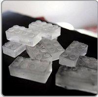 Wholesale Cold summer creative ice lattice ice lattice bricks Lego block ice trays