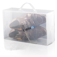 clear shoe box - New Clear Plastic Men s Women s Shoe Storage Boxes Containers Trainers Size