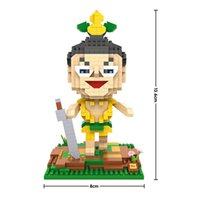 animations yellow diamond - LOZ yellow gourd doll HOPI Chinese Classic Animation Calabash Brothers Diamond Nano Block Building Blocks Educational Kids Toys Gifts
