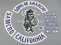 Wholesale Sons of Anarchy Patch Original Embroidery Twill Biker Patches for Jacket Back Full Size and Full Set Motorcycle