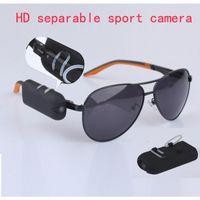 HD 1280 * 720P lunettes de soleil sport caché caméra espion DVR caméscope DV 30fps mini enregistrement vidéo séparable Mettez votre caméra portable portable