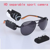 Cheap HD 1280*720P sport Sunglasses hidden camera spy glasses DVR DV camcorder 30fps separable mini video record Put on your glasses portable cam