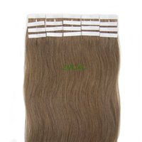 Wholesale 16 quot quot quot quot quot Tape in Skin Weft Remy Human Hair Extensions Light Brown set