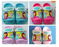 Wholesale Hot sale D pattern garden shoes cartoon sandals girls sandals color size c6 j3