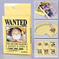 board game pieces - 2pcs NEW Anime One Piece Luffy Wanted Collection Poker Cards pack Playing Cards Cosplay Board Game Cards With Box Free chipping