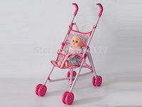 Wholesale Pretend Play Doll Stroller Baby Doll Se dolls cart toy girls infant toddler doll baby stroller