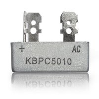 Wholesale 3pcs New KBPC5010 Bridge Rectifier V Amp Metal Case for maximum Heat Dissipation V cm Square Diode Bridge