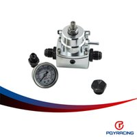 Wholesale PQY RACING SILVER AN8 high pressure fuel regulator w boost AN Fule Pressure Regulator with gauge PQY7855