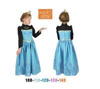 Wholesale frozen princess elsa costume dress frozen elsa coronation dress cosplay green elsa dress long sleeve elsa dress spring autumn dress