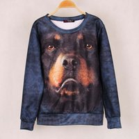 big dog outerwear - Fashion Brand Women Rottweiler Dog Printed Sweatshirt Hoody Hoodies tracksuits Pullovers Sport Suit Tops Outerwear Big Size