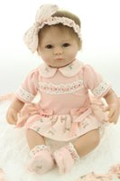 baby toyes - 45cm Pink Princess Soft Silicone Newborn Dolls Baby Dolls Handmade Doll Simulation Dolls Early Education toyes With Clothes