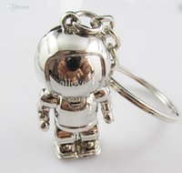 asimo robot - new arrival high quality asimo D key chain spaceman keychain robot key ring key holder drop shipping