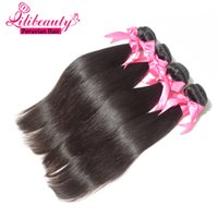 Cheap Grade 7A Peruvian Virgin Hair Straight Human Hair Extensions 4Pcs Lot Peruvian Hair Can Be Dyed, Bleached, Curled Hair Product