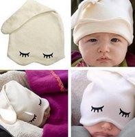 baby girl sleep - babies baby crochet hat Sleep cap boys and girls beanie hats knit kids of headgear baby lovely eyelash styling