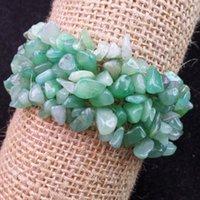 aventurine bracelet - Intriguing New strand Green Aventurine chip stretchy bracelet inch