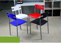 Wholesale Contracted eat chair plastic chairs Creative leisure chair stool Office chair the meeting chair