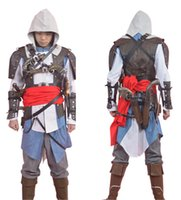 Wholesale 2015 Edward Kenway Costume Assassins Creed IV Black Flag Adult Man Cosplay Assassin Creed Costume For Halloween Dropshipping