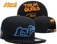 Wholesale Korean version of the influx of brand skateboard truck Trukfit truk gurls skateboard hip hop hat cap flat brimmed hat baseball cap a43