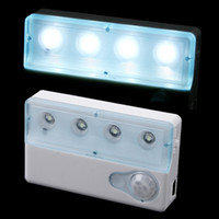 auto novelties - Infrared PIR Auto LED Sensor Light Motion Detector Lamp Night Light Novelty LED Night Lamp Cabinet Light