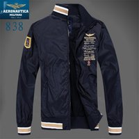 air force fleece - Fall New Arrival top brand outdoors clothes Men winter Fleece Jacket Air Force One Windbreaker Jacket Aeronautica Militare Coat
