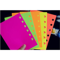 Wholesale 10PCS CM DIY Handmade Embossed Paper Creative Sticker Toys Mixed Color