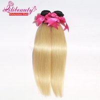 Cheap 7A Ombre Malaysian Virgin Hair Straight 2Bundles 1B 613 Ombre Human Hair Extensions Blonde Two Tone Malaysian Straight Hair