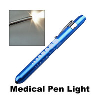 Wholesale MIni Portable Pen Like Medical Flashlights EMT Surgical Penlight Torch Lamp With Scale First Aid Pen Light
