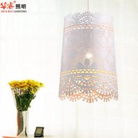 art iron works - White Rural Wrought Iron Art Homy Pendant Lamp Lace Dining Room Lighting Fashion Lamp Cafe Light Indoor Lighting Fixtures v v