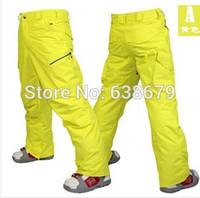 Wholesale gsou snow mens rainbow grid ski pants black snowboarding skiing pants winter sports trousers snow pants waterproof K