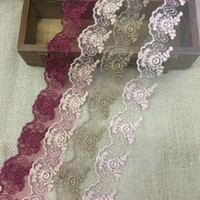 hand embroidered garments - Exquisite flower embroidered tulle lace trim mesh tape trimming for hair bow garment hand craft DIY accessories cm yards