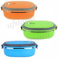 Cheap Free Shipping Kids Bento Box Child Single Layer Stainless Steel Vacuum Lunch Box Keep Warm Food Container for School AIA005081