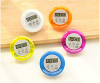mini digital timer - New arrival Colorful Mini Digital LCD Kitchen Timers Kitchen Gadgets electronic timer For DHL free ship