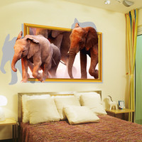 baby packaging design - New Hot Wall Sticker Home Decor PVC Wall Decal With cm D elephant and baby elephant