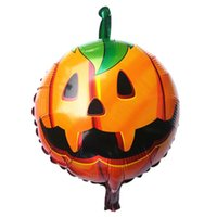 balloon halloween costumes - Stylish High quality Halloween pumpkin head Decorative Foil Balloons Costume Parties for men