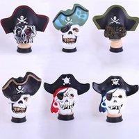 Wholesale 6 style mixed Halloween costume Pirates of the Caribbean mask skull terrorist masquerade dressed props to Pirates of the Caribbean