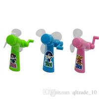 baby portable fan - Children Gift For Kids Summer Manual fans Portable Small Mini Hand Fan Mini baby fan Cartoon baby fans Portable fan Mini fans DDA2905
