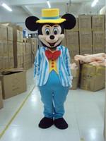 2016 a estrenar de la mascota del traje de los trajes mushroomstret azul de envío libre adulto de la mascota de Mickey Mouse de Halloween traje del vestido de lujo, traje de los trajes