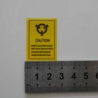 DHL 3000pcs / Lot 4 * 2.2cm auto-adhésif Seal Antistatic Attention Mark Static Sensitive Electronic Device Attention Rappel Étiquette