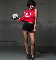 Cheap 2015 Jeans Woman Waisted Ragged Shorts Black Denim Shorts Ripped Jeans Shorts Calca Jeans Denim Overalls Big Size xxl Feminina
