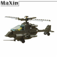 Wholesale New Set Building Block Sets Military Hind Helicopter Toys ABS Blocks Assembled Educational Toy Model Building Kits order lt no track
