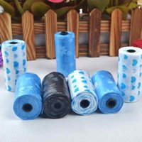 Wholesale 1 Roll Pet Dog Waste Pick Poop Bags Biodegradable Clean Up Lovely Paw Printed Products Puppy Supplies