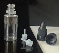 pet bottles - 10ml Needle Bottles Clear PET Dropper Bottle with Chlidproof Caps Triangle Caps for e liquid Factory Supply Directly