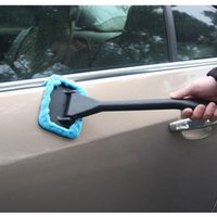 auto washing brush - New Arrive Microfiber Auto Window Cleaner Long Handle Car Wash Brush Dust Car Care Windshield Shine Towel Handy Washable Car Cleaning Tool