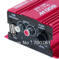 Wholesale 500W Channel Mini Hi Fi Stereo Audio Amplifier Amp Car Motorcycle Verstarker Amplificador subwoofer M40156