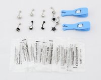 Wholesale 1lot Disposable Puncture Tool Umbilical Ring With Umbilical Ring Belt Pendant Set