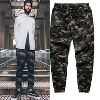 camo clothing - New Men Urban Clothing Camo Joggers Elastic Cuff With Zippers Drawstring Camouflage Harem Joggers Pants Trousers AY951